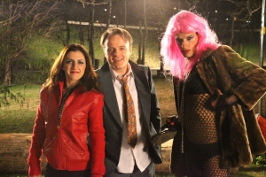 Lola Berthet (the Hooker), Luis Machín (the Drunk), Luis Aponte (the Transvestite)