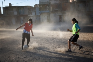 Goals for Girls Shantytown Soccer Football Dust Slum