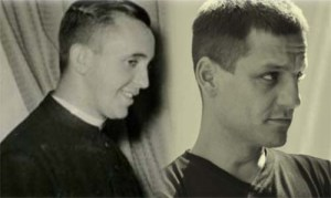 A younger Bergoglio (left) and Rodrigo de la Serna (right).