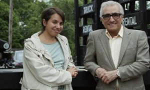 Director Celina Murga (left) and filmmaker Martin Scorsese on the set of The Third Side of the River.