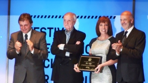 Left to right: Mayor Pulti, festival president José Martínez Suárez, INCAA president Liliana Mazure & Cultural Institute president Jorge Telerman.