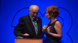 Festival president José Martínez Suarez and INCAA president Liliana Mazure present the award ceremony.