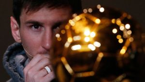Lionel Messi in the spotlight.