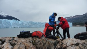 Shooting in Perito Moreno Glacier.