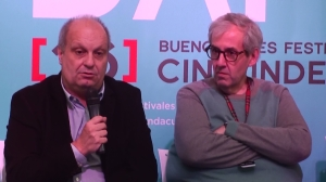 Ministry of Culture Hernán Lombardi (left) and festival director Marcelo Panozzo.