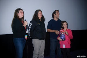 The directors and Allies of the 31st coach during Q&A after the screening.