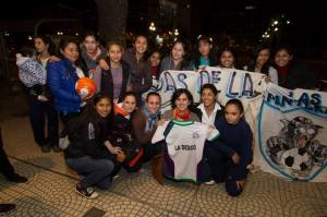 'Las Aliadas' during the Goals for Girls premiere, May 8th.