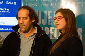 Directors Gabriel Balanovsky and Ginger Gentile in the Goals for Girls premiere, May 8th.