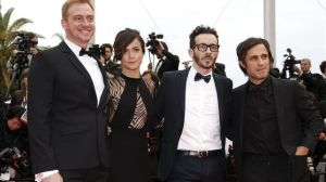 El Ardor cast & crew, from left to right: Claudio Tolcachir, Alice Braga, Pablo Fendrik and Gael García Bernal.