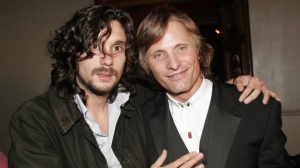 "Lisandro Alonso & Viggo Mortensen, director and star of FIPRESCI Prize winner ""Jauja""."