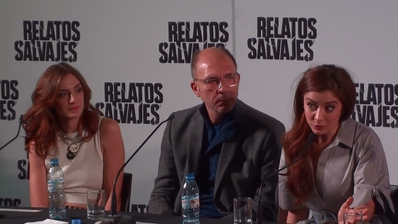 Left to right: actors Julieta Zylberberg, Darío Grandinetti and Érica Rivas.