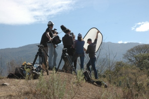 Shooting in the mountains outside Salta.